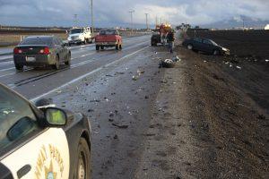 תאונה בדרך לעבודה בכביש