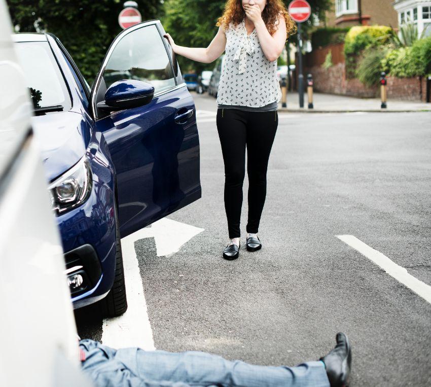 תמונה של תאונת דרכים בעבודה